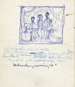 John Lennon handwritten lyrics to Lucy in the Sky with Diamonds